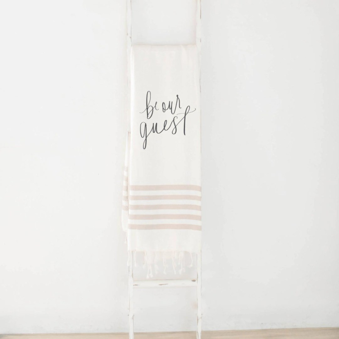 Have a special throw blanket to keep your guests cozy during their stay