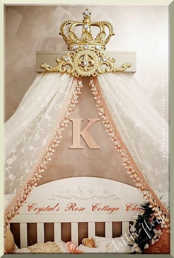 Champagne Amp Gold Fleur De Lis Bed Crown Canopy Teester Color