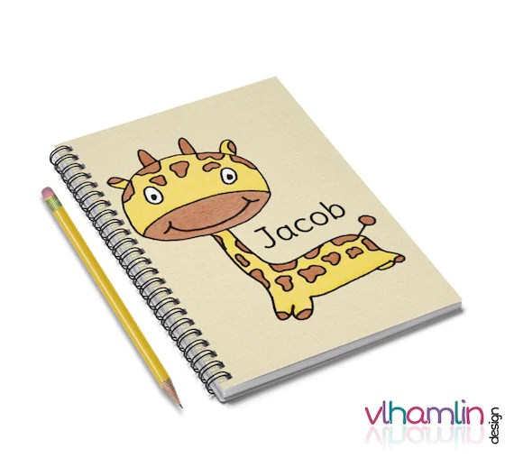 Personalized Giraffe Notebooks | VLHamlinDesign