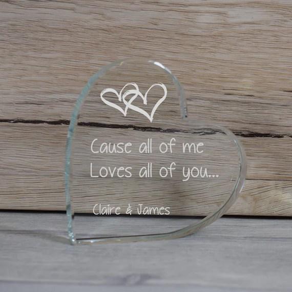 Glass Love Token Paperweight