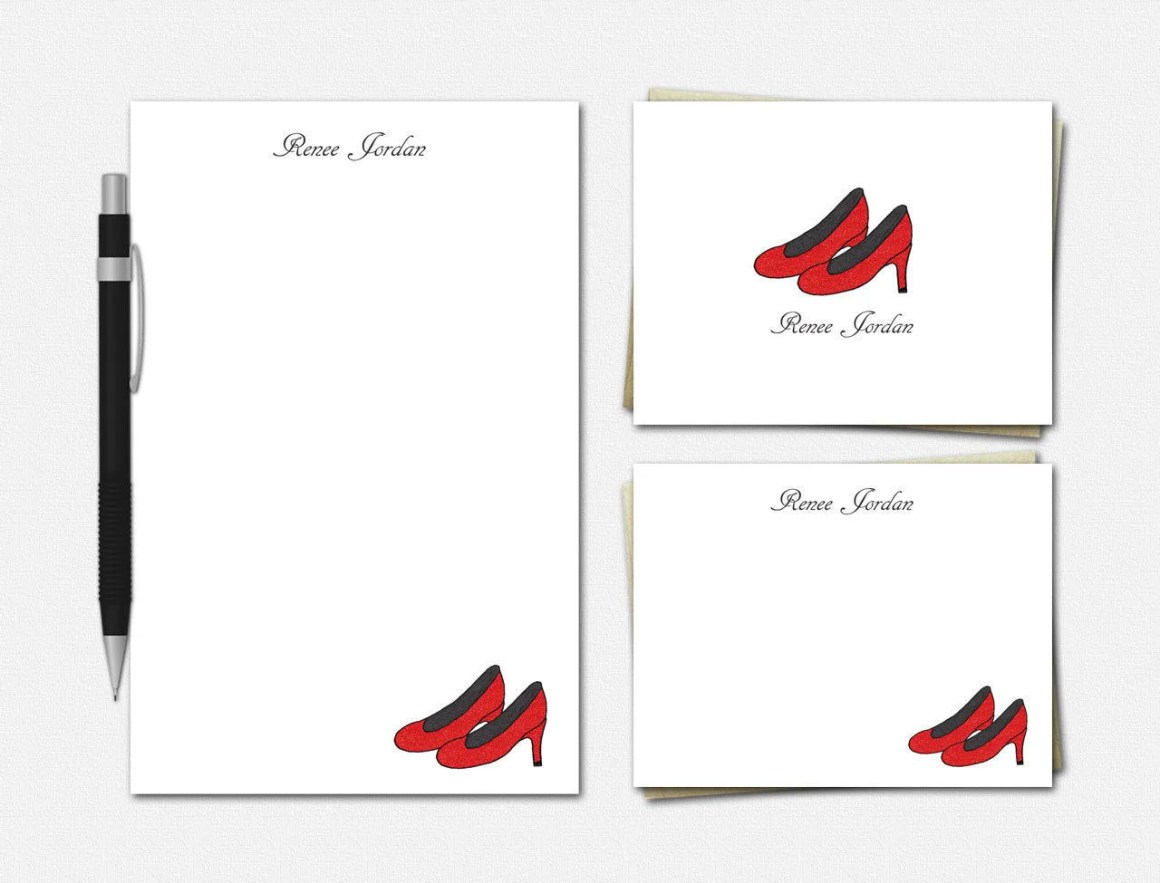 Red High Heels Stationery...