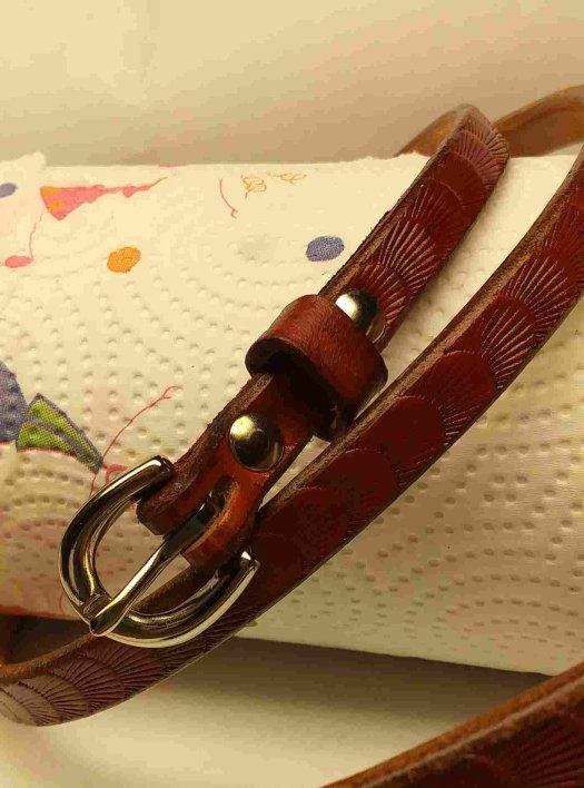 Handmade leather belt, th...