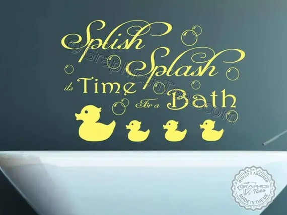Bathroom Wall Decal Quote by GraphicsnTees