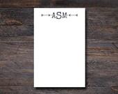 Arrow Monogram Notepad - ...