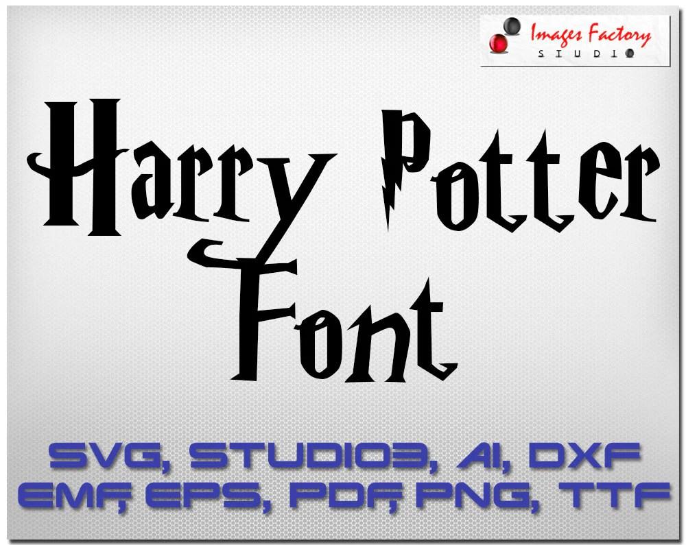 Download Harry Potter font SVG cuttable Alphabet Svg Dxf Eps TTF Cricut