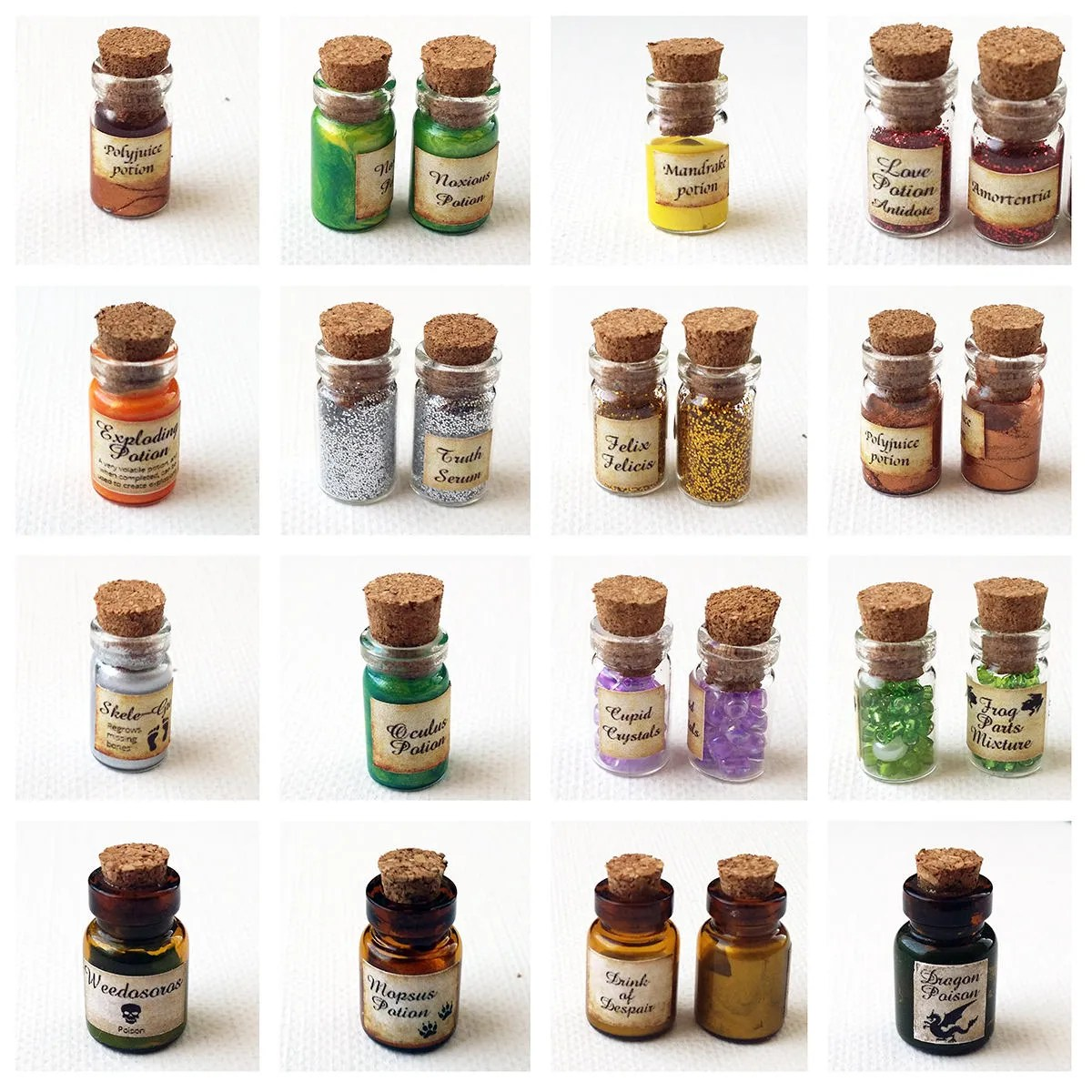 Printable Dollhouse Potion Labels Book Covers 1 12 Scale