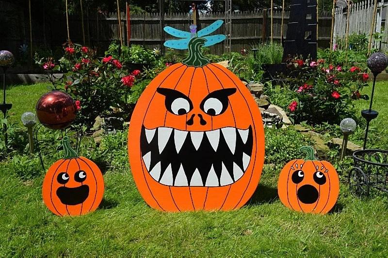 halloween pumpkin yard sign