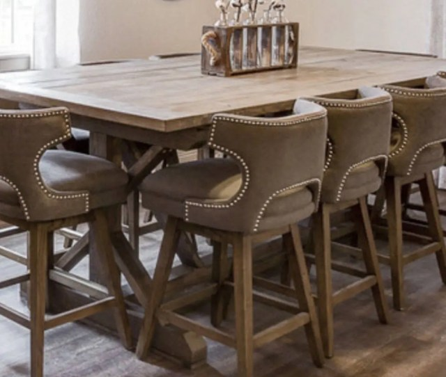 Counter Height X Style Wood Farmhouse Dining Table