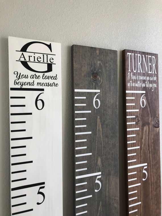Custom & Personalised Growth Chart Ruler