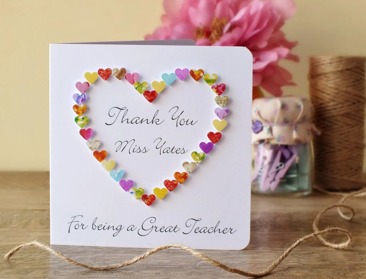 Thank You Teacher Card Thank You For Being A Great