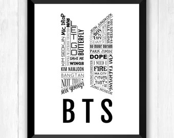 Download BTS Young Forever Watercolour Splatter Edit Bookmarks