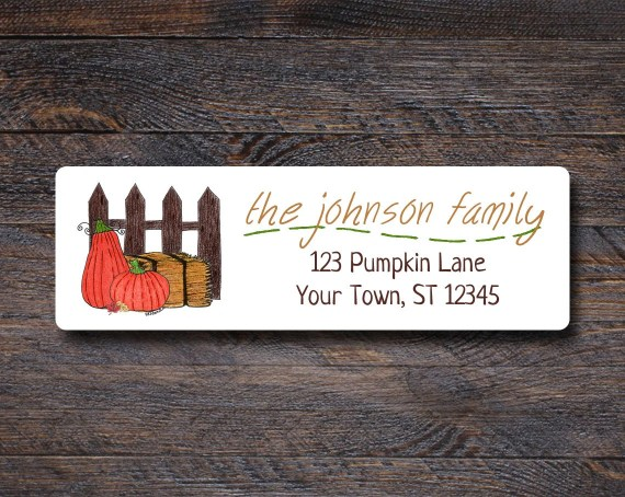 Pumpkin Patch Return Address Stickers