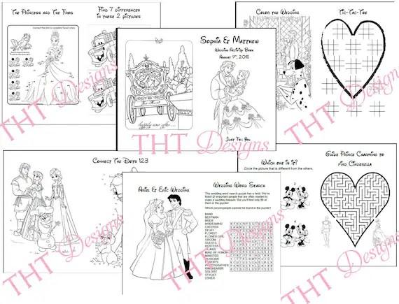 Disney Theme Wedding Activity Book Printable