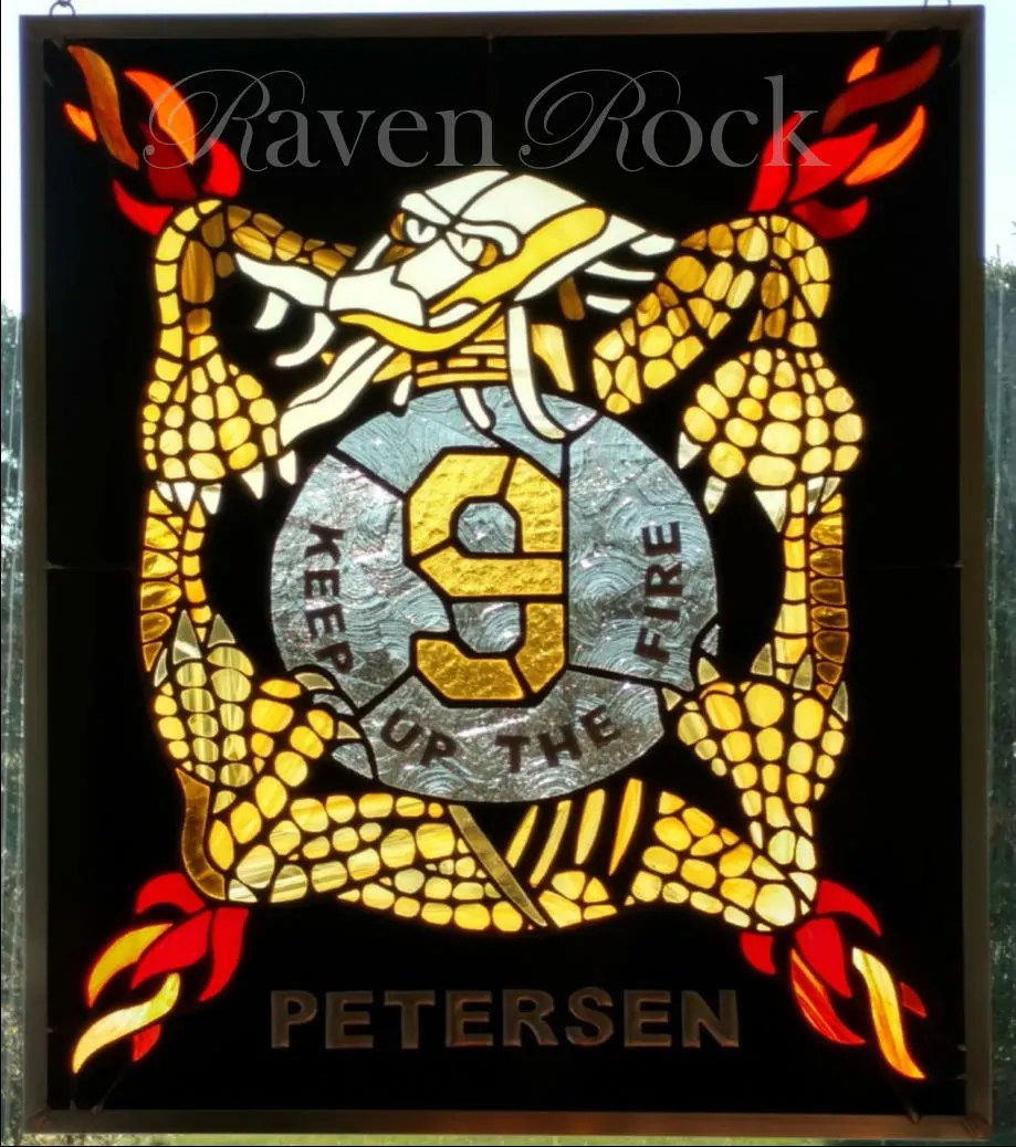 Army 9th Infantry Regiment Shield In Stained Glass Includes Engraving Or Last Name Custom Made