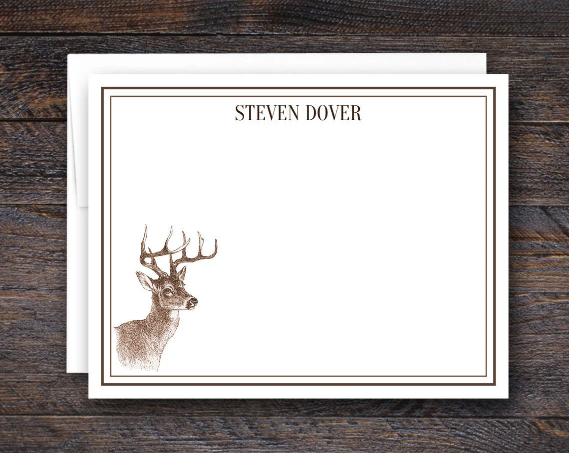 Buck Deer Note Cards - Pe...