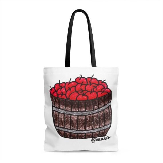 Apple Basket Tote Bag