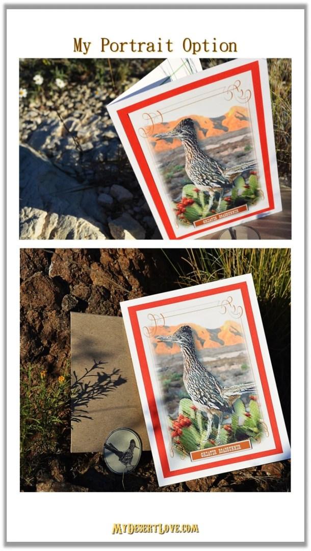 Bird Greeting Card, Deser...