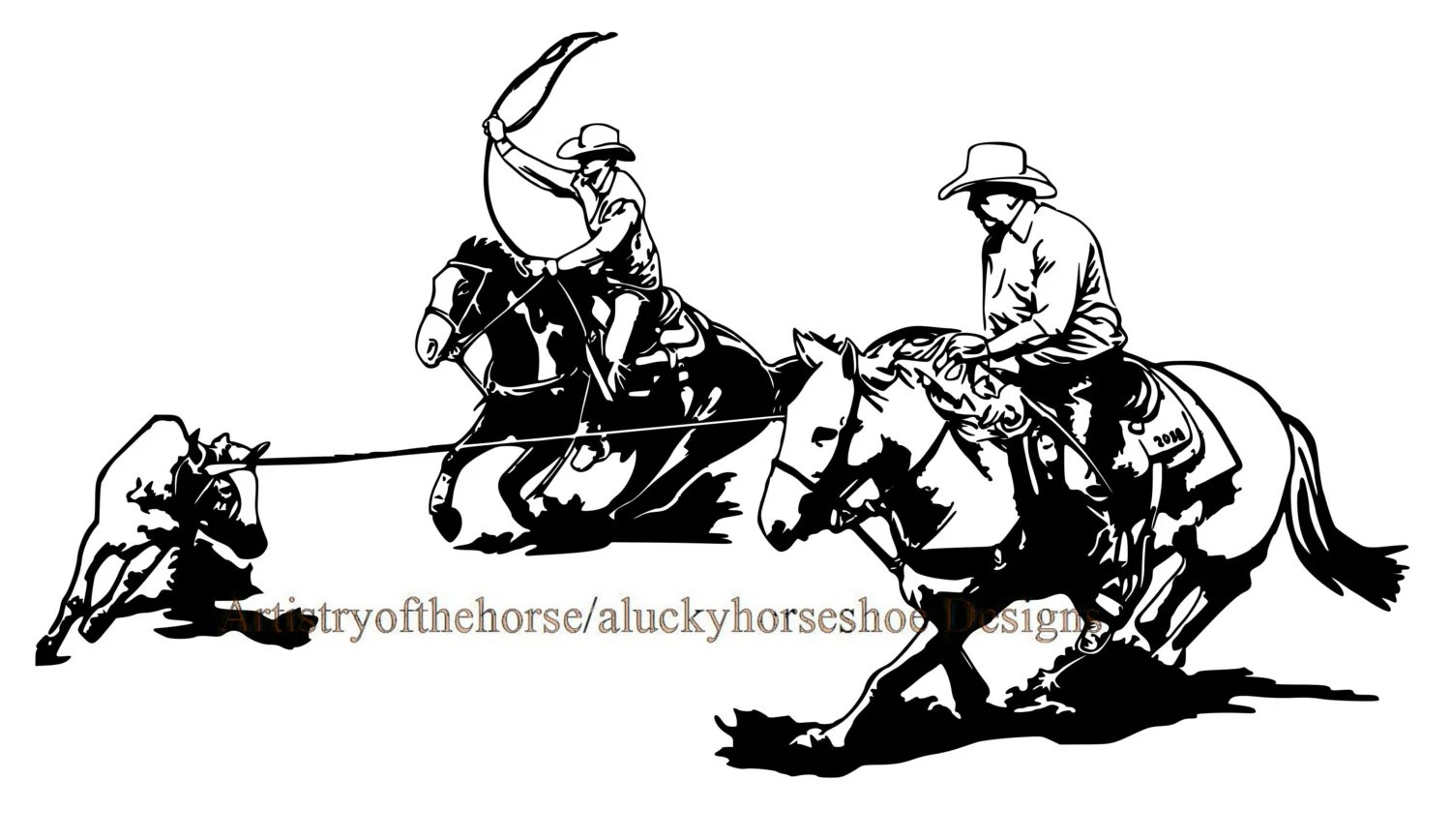 Horse Trailer Trailer Decal Horse Decal Team Roping