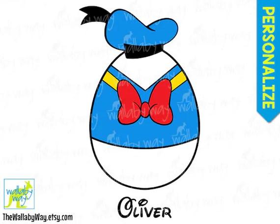Donald Duck Easter Egg Disney Printable Iron On Transfer Or