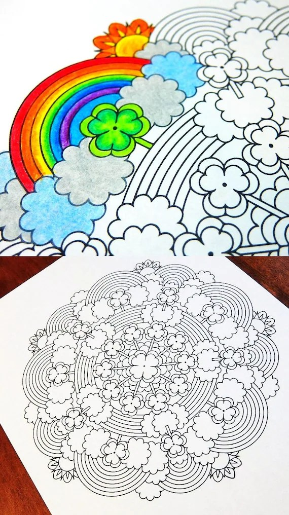 Mandala Coloring Page St Patrick S Day Printable March