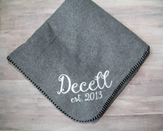 Personalized Name Blanket Custom Throw Blanket Wedding