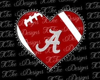 Download Love Alabama Crimson Tide College Football SVG File Vector