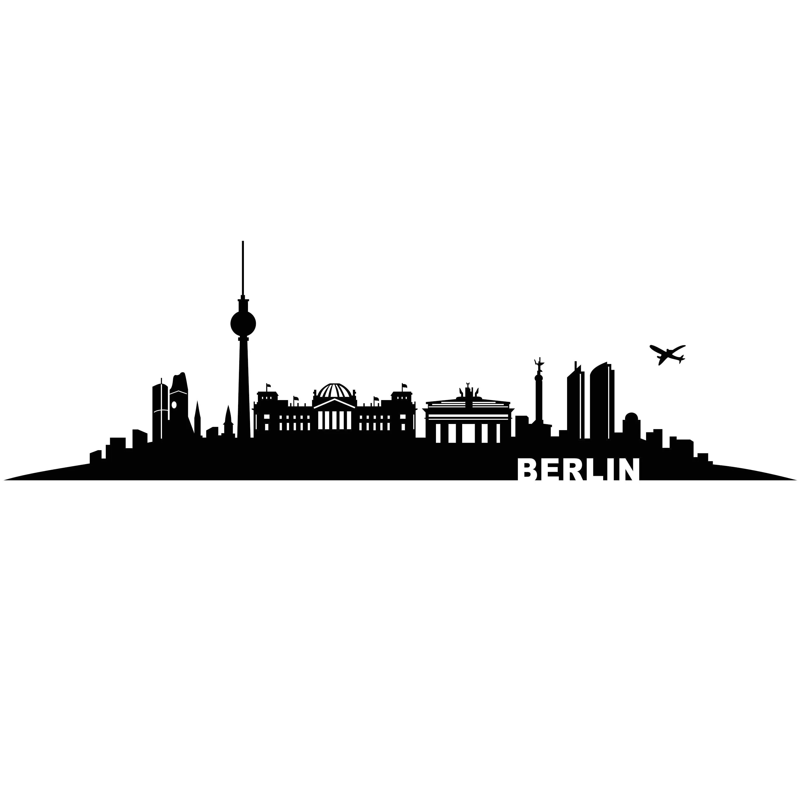 Berlin City Germany Graphics Svg Dxf Eps Cdr Ai Vector