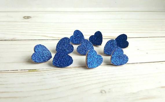Blue Heart Push Pins
