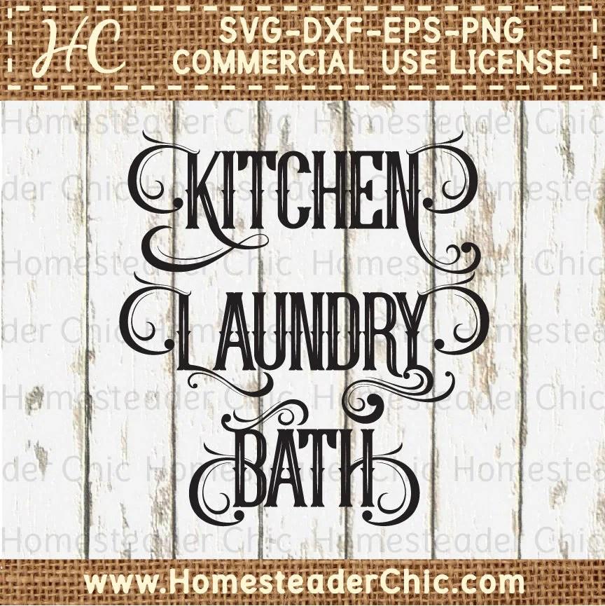 Download SVG File Bundle Kitchen Svg Files Bath Svg Laundry Svg