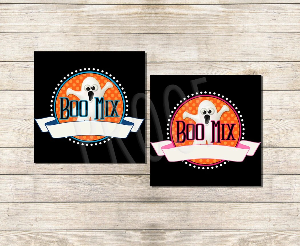 halloween boo mix labels