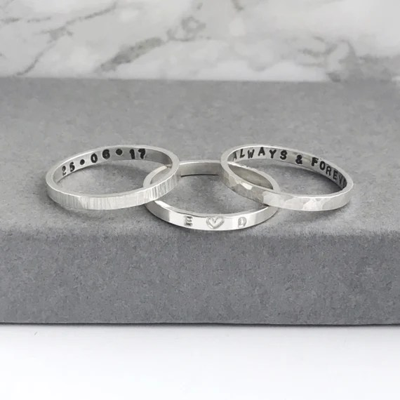 Hand Stamped Personalised Ring