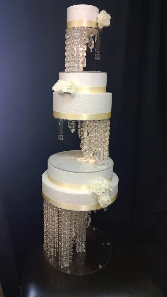 Crystal Illusion Cake Stand And Separators