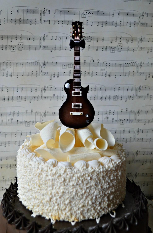 Electric Guitar Wedding Birthday Grooms Cake Cake