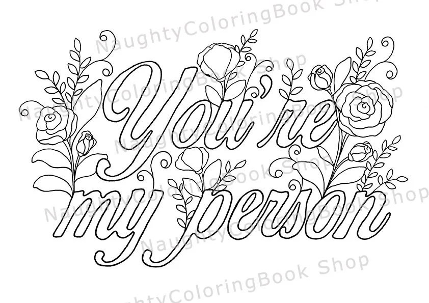 Youre My Person Best Friend Printable Gift Coloring