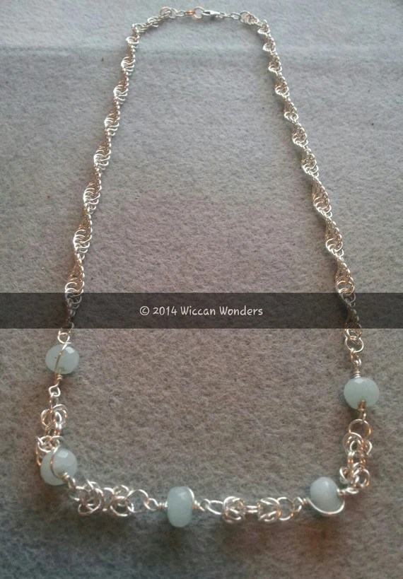 Handcrafted Aquamarine Necklace