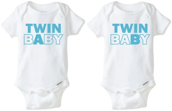 Download Twin Baby Paired Onesie Design SVG DXF Vector files for use