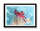 Blue and red abstract  //...