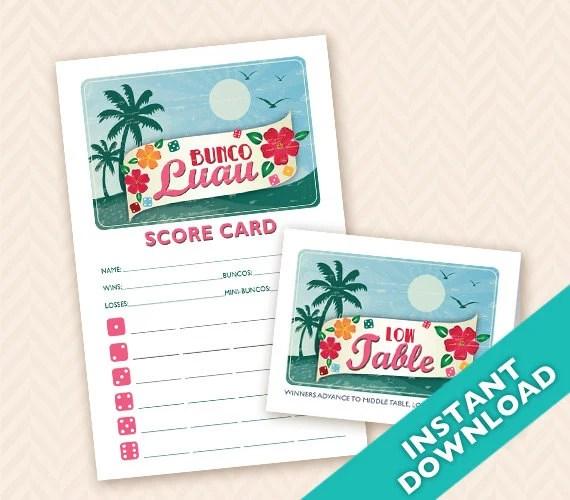 Printable Bunco Scorecard...