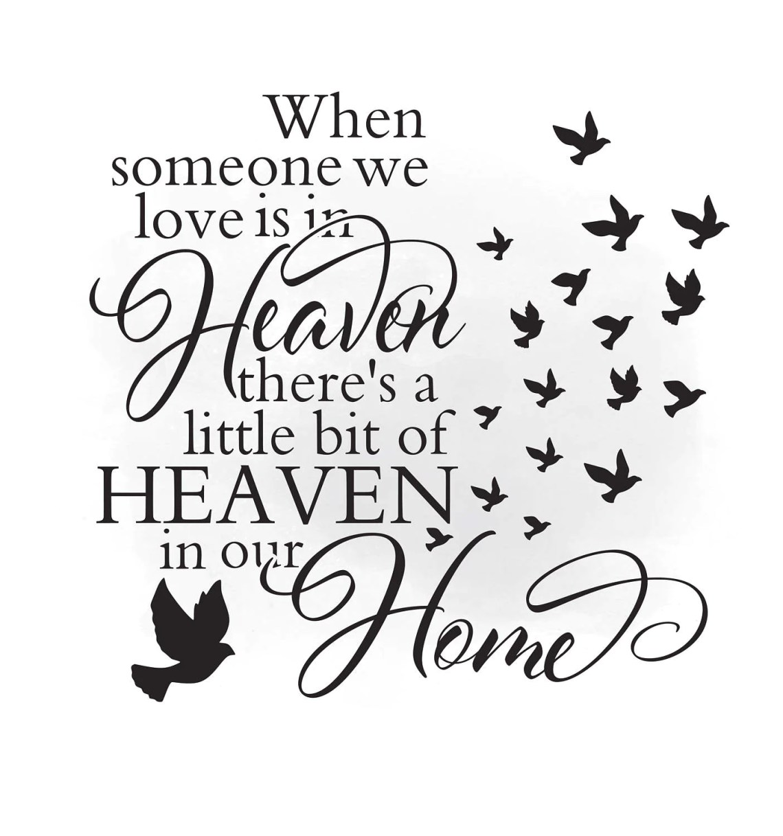Download Heaven in our home SVG clipart, in loving memory Quote Art ...