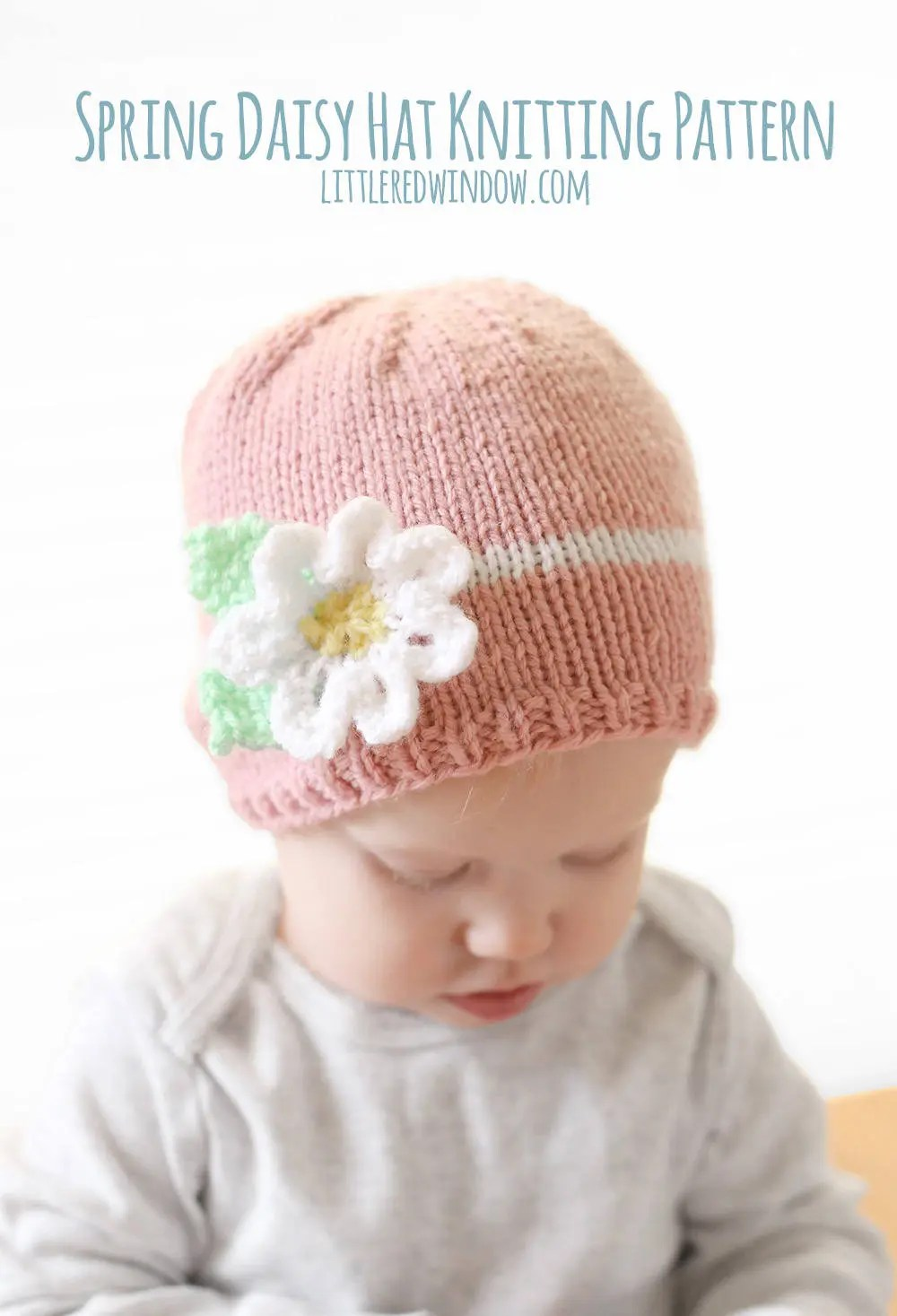 Knitted Flower For Baby Hats Gardening Flower And Vegetables
