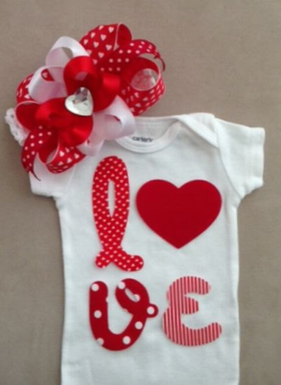 Items Similar To Valentines Day Outfit For Baby Girls