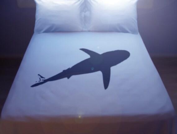 Shark Duvet Cover Sheet Set Bedding Queen King Size Twin Full