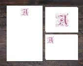 Monogram Stationery Set -...