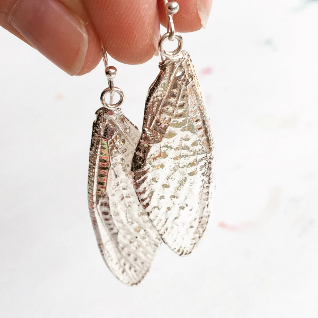 Large Silver Cicada Wings...