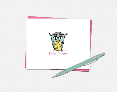 Owl Note Card Set - Folde...