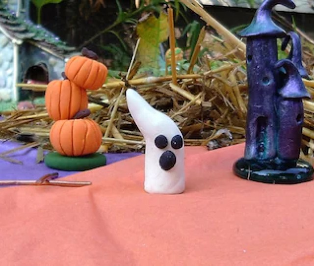 Fairy Garden Halloween Witches Castle Set Of  Including Pumpkin Tower