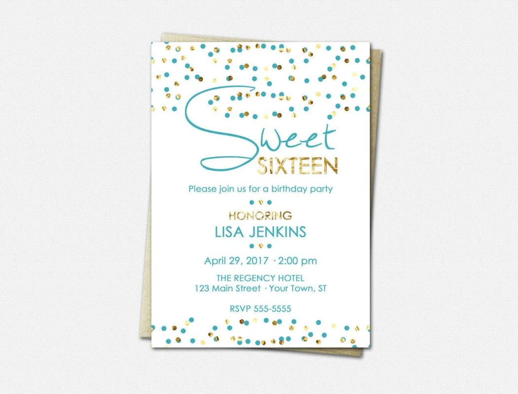 Sweet 16 Birthday Invitat...