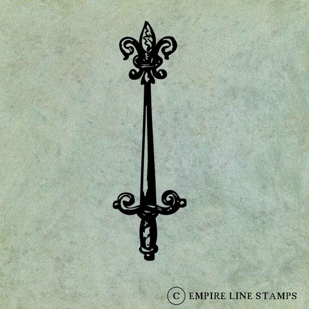 Sword with Fleur de Lys -...
