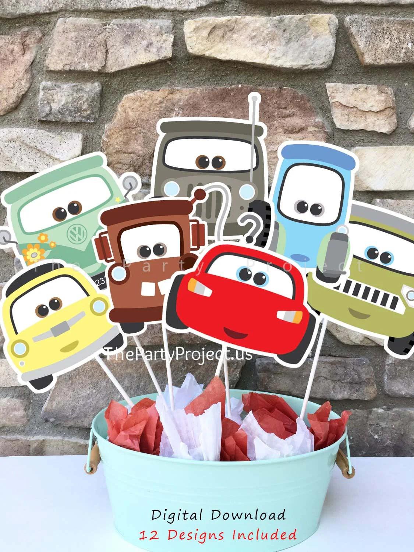 Diy Printable Cars Centerpiece 12 Disney Cars 1 2 3
