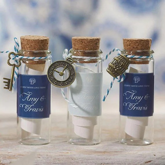 Small Glass Bottle with Cork Stopper